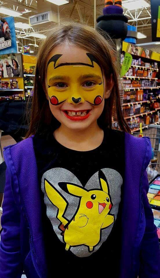 Pikachu Pikachu Face Painting Face Painting Halloween Superhero Face Painting