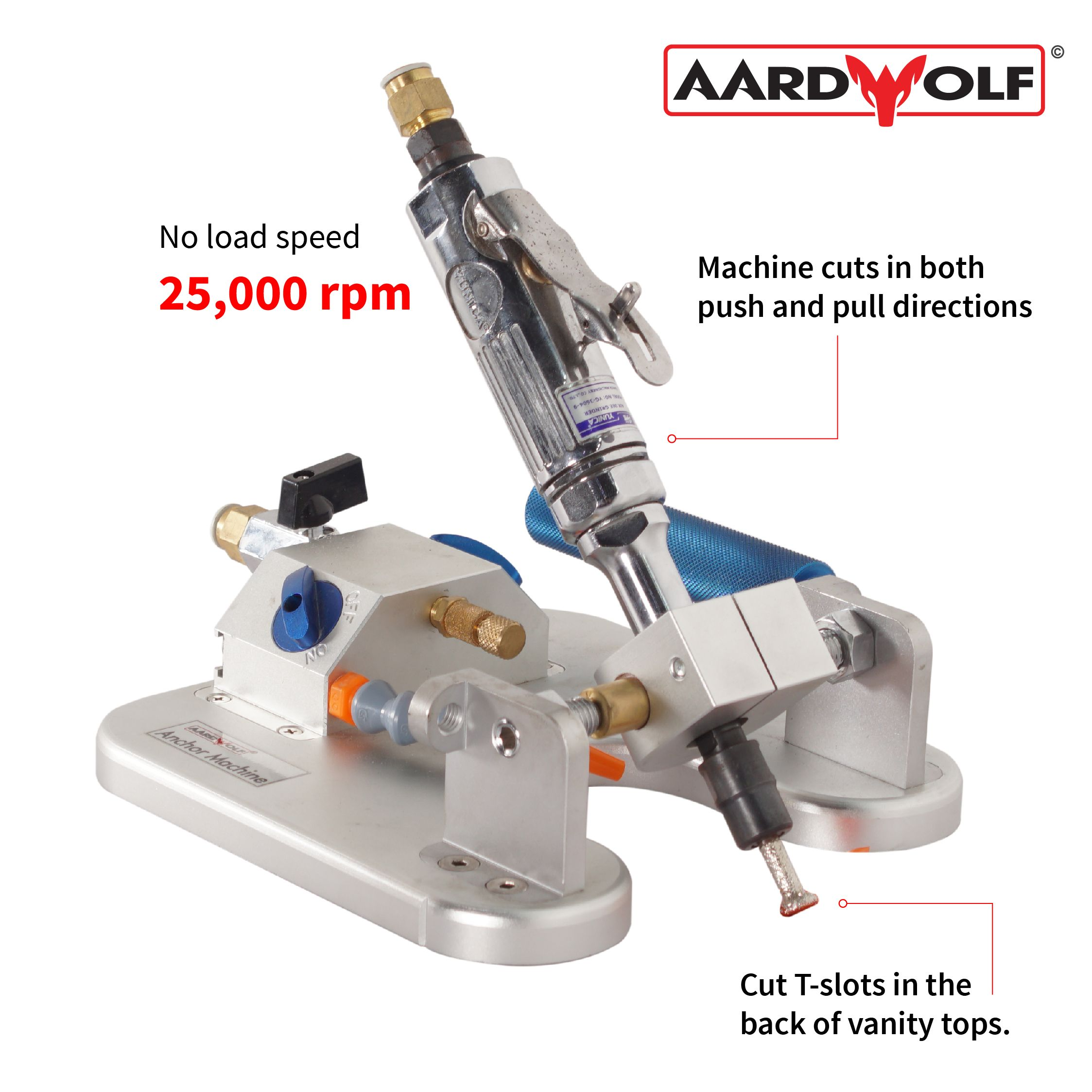 The Pneumatic Anchor Machine manufactured by Aardwolf