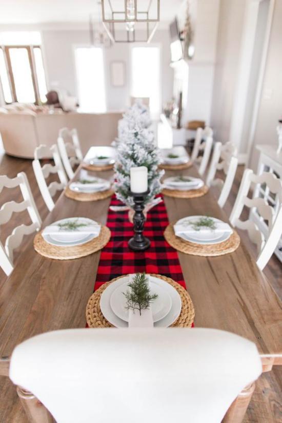 Festliche Tischdeko Ideen zu Weihnachten rustikales Ambiente   #rustikaleweihnachtentischdeko