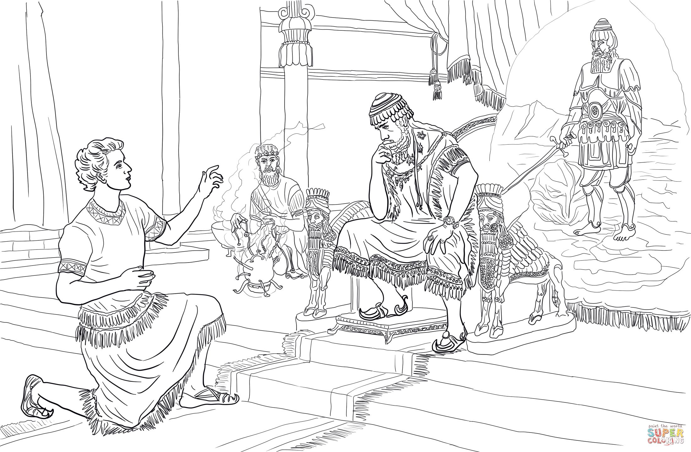 King Belshazzar Coloring Coloring Pages Coloring Pages