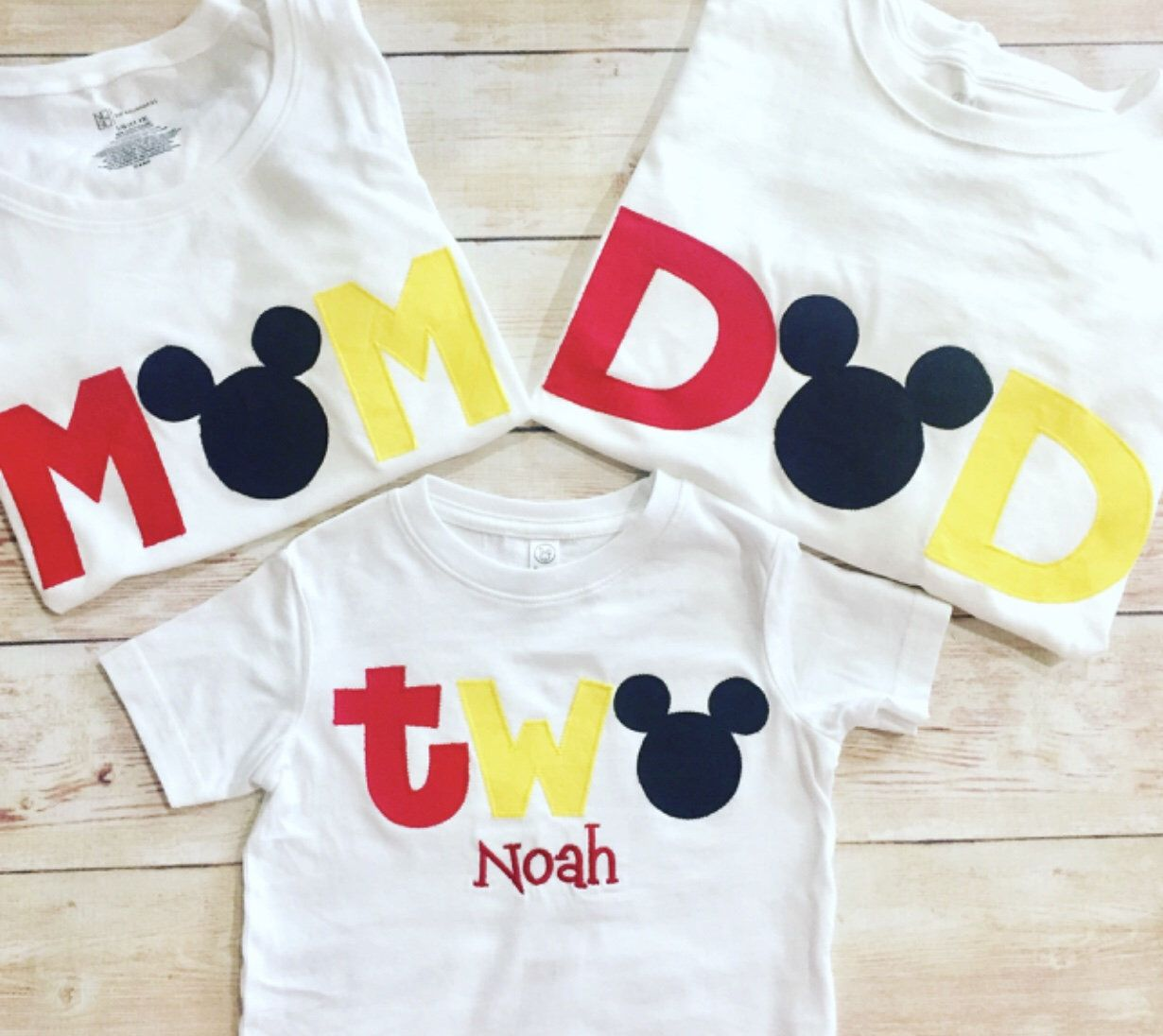 Disney family shirts mickey mouse 2nd birthday boys two