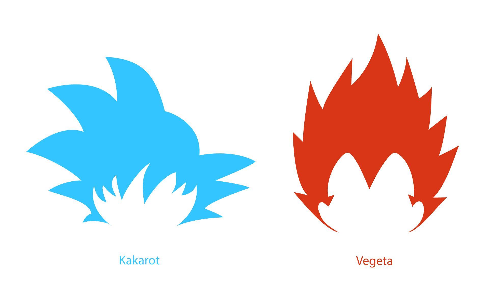 Goku (Kakarot) and Vegeta minimal vector design | Designs ...