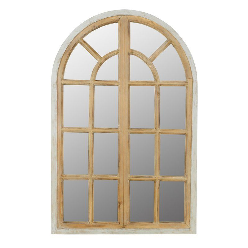 Veltri Farmhouse Arch Wall Mirror Arched Window Mirror Mirror Wall Home Accents