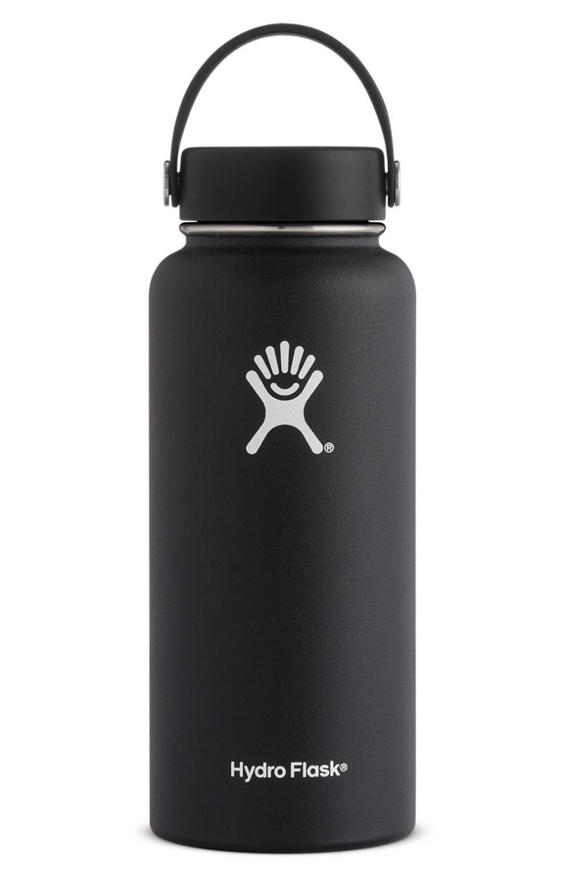 0c9ed3e40c Hydroflask 32oz Wide Mouth in Black | Hydroflasks in 2019 | Flask ...