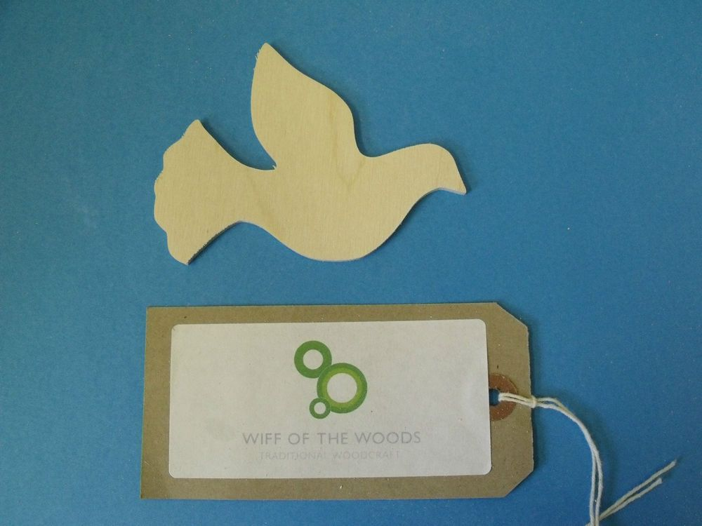 10 Birch ply wooden dove shapes decopatch, pyrography, decorations, gift tags.