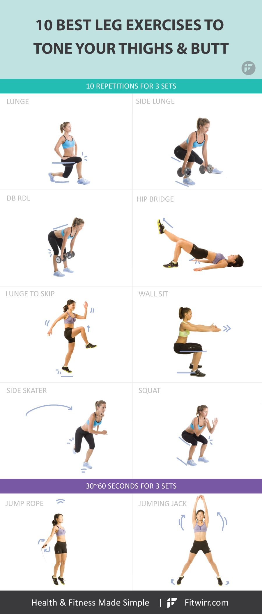 Best Exercises Targeting Each Muscle Group Of The Body: 10 Best Leg Exercises For Women To Build Shapely Legs