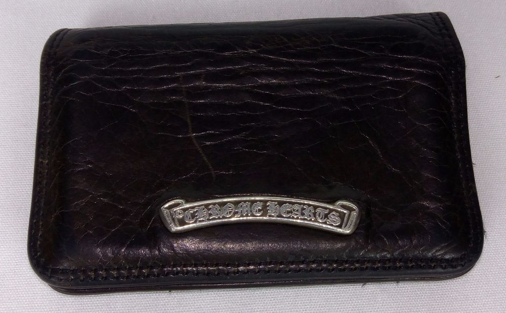 new product 6b0fe 093ab 100% Authentic CHROME HEARTS Double Credit Card Holder Case Wallet ...