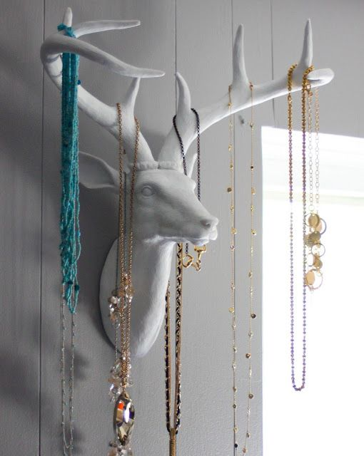 Inspired By Pins On Pinterest Page Good Clean Fun Creates A Unique Jewelry Holder With O Creative Displays Antler Diy