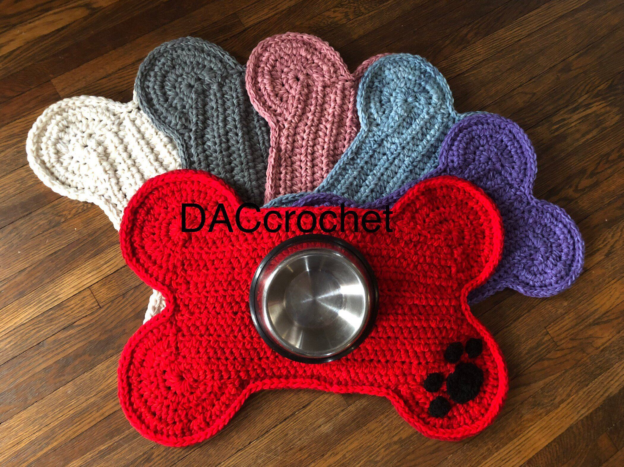 Crocheted Dog PlacematRug