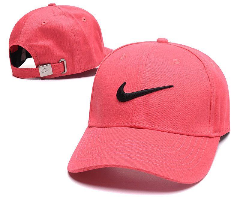 Men's / Women's Nike Futura True Iconic Logo Curved Dad Hat - Pink / Black