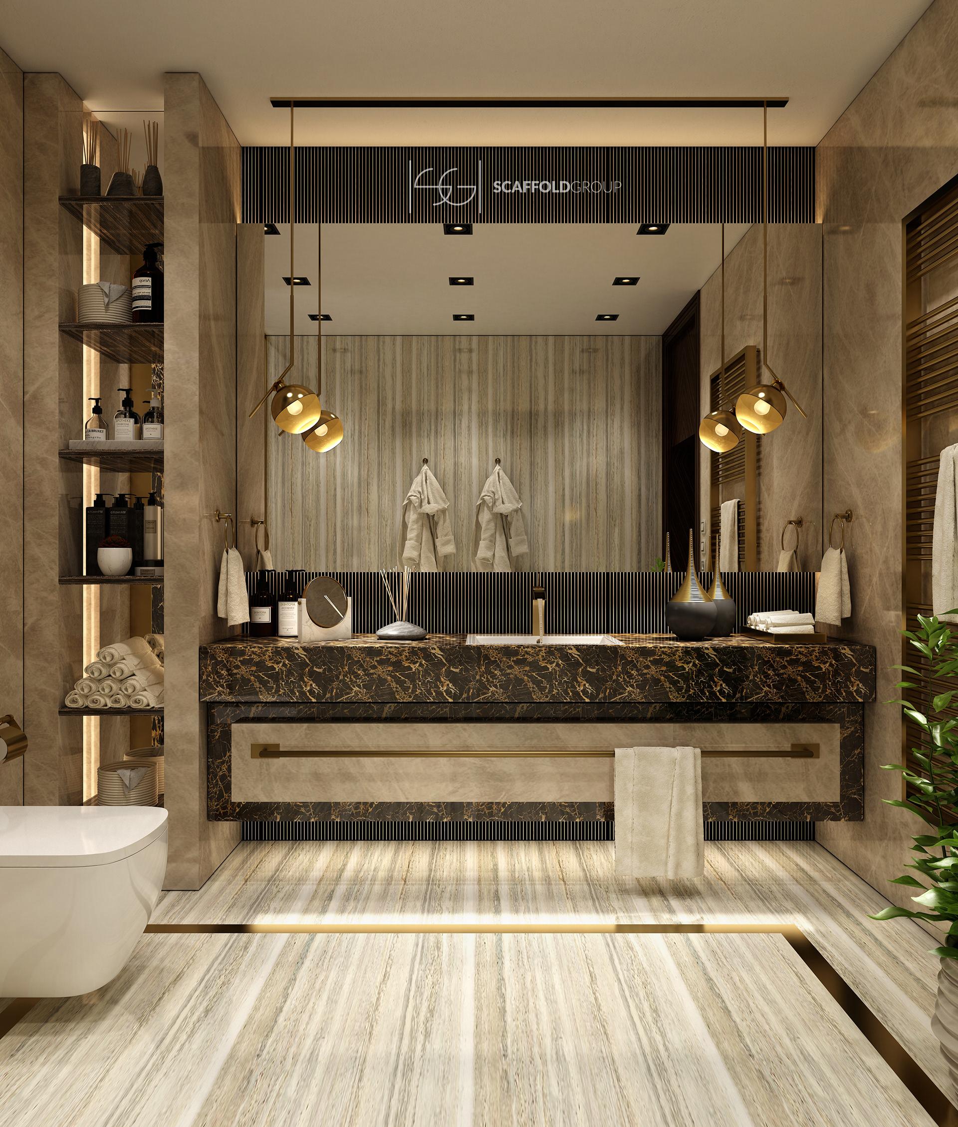 Luxurious Bathroom On Behance In 2020