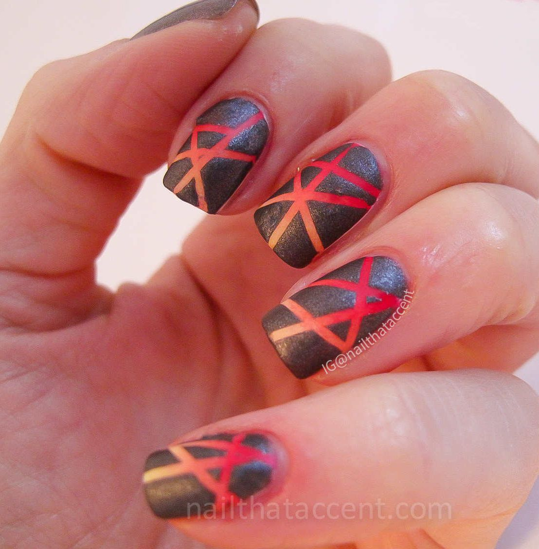 Fire Nail Art | Hunger Games Catching Fire Nail Art Tutorial | Nails ...