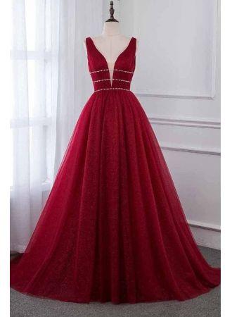 Abendkleid Rot Lang Günstig   Abendkleider Festlich Online ...