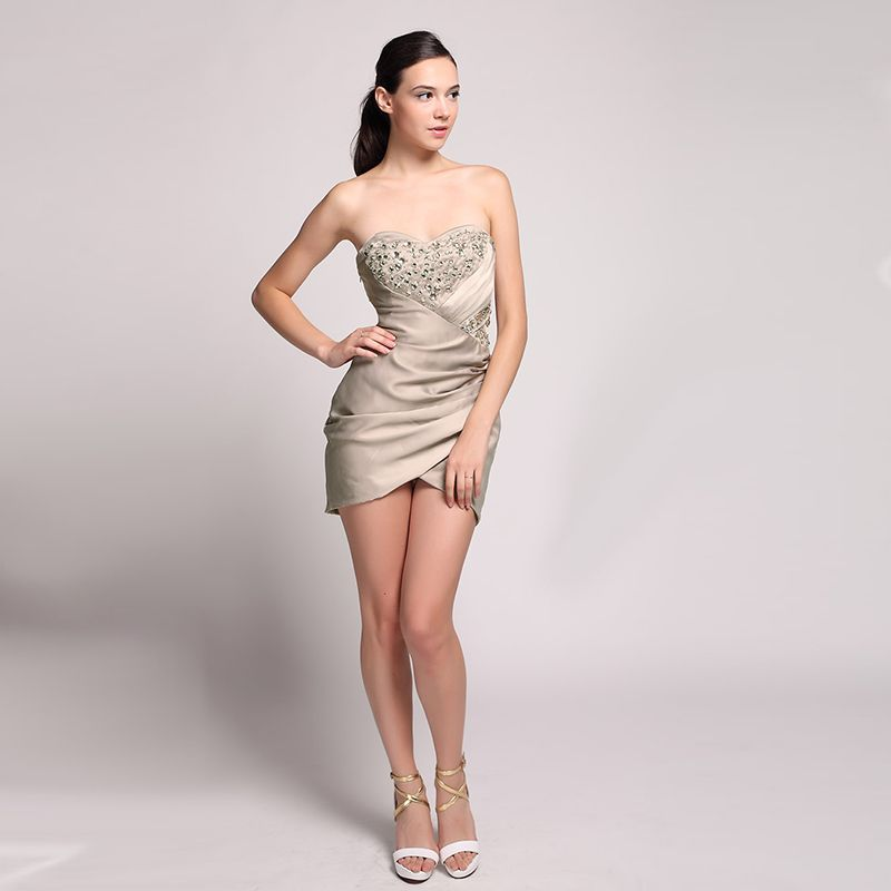 Free Shipping  Buy Best 2017 New Cocktail Dresses Womens Sexy Strapless 01a66f615af6