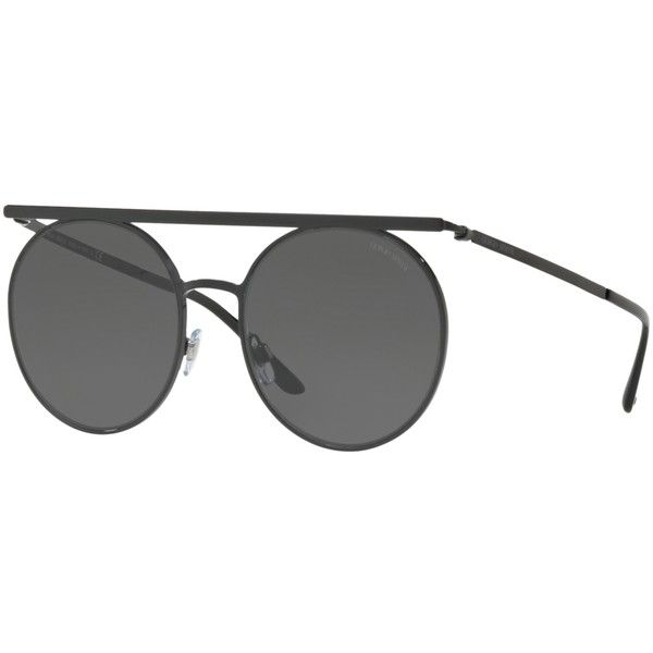 5a5e84b1f3 Giorgio Armani AR6069 Round Sunglasses ( 275) ❤ liked on Polyvore featuring  accessories