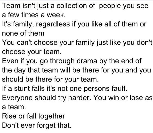 Couldn T Have Put It Better Myself I Love My Team Nmw Cheer Quotes Motivational Speeches Team Quotes