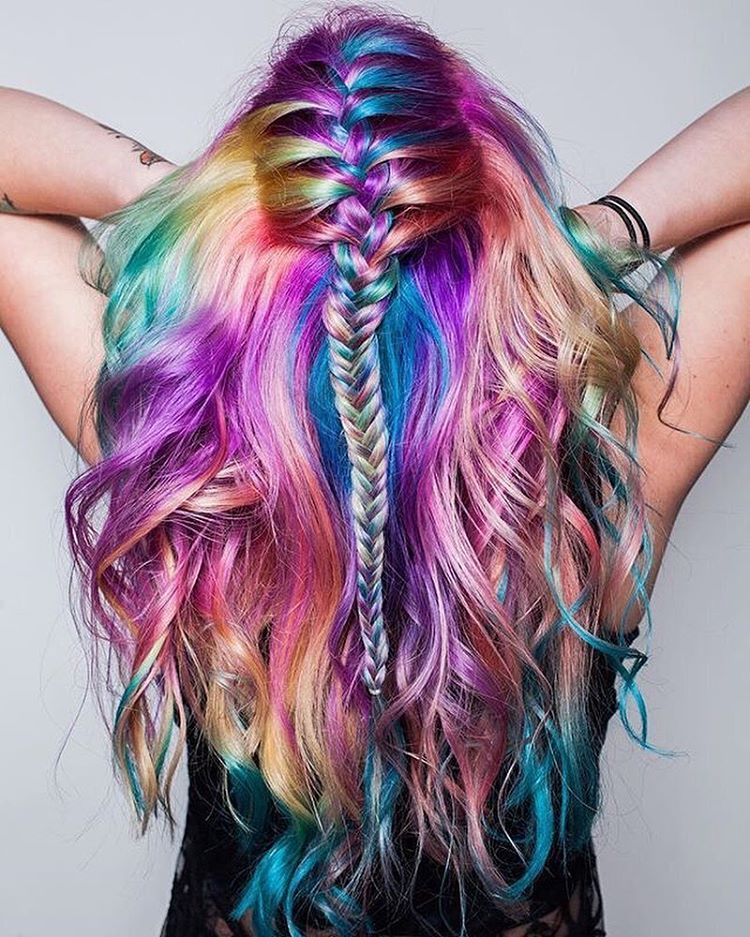 multi-colored beachy waves