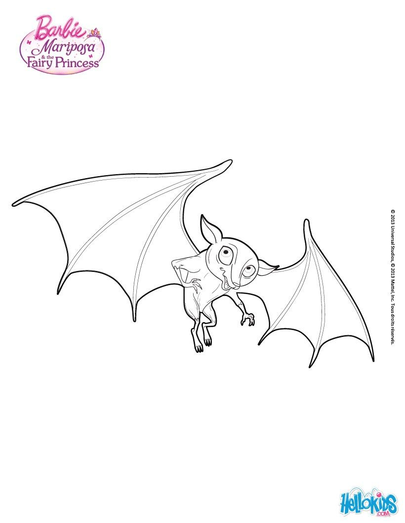 The Gwyllion\'s bat coloring page. More Barbie Mariposa coloring ...