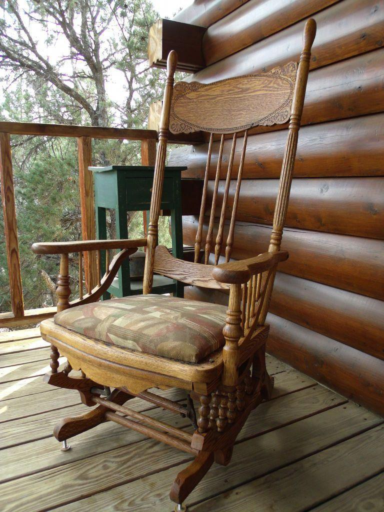 Marvelous Restoration 1878 Platform Glider Rocking Chair Customarchery Wood Chair Design Ideas Customarcherynet