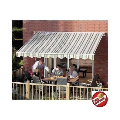 Patio Awning 10 X 8 Retractable Outdoor Sun Shade Rain Cover Protector  Shelter #ALEKO