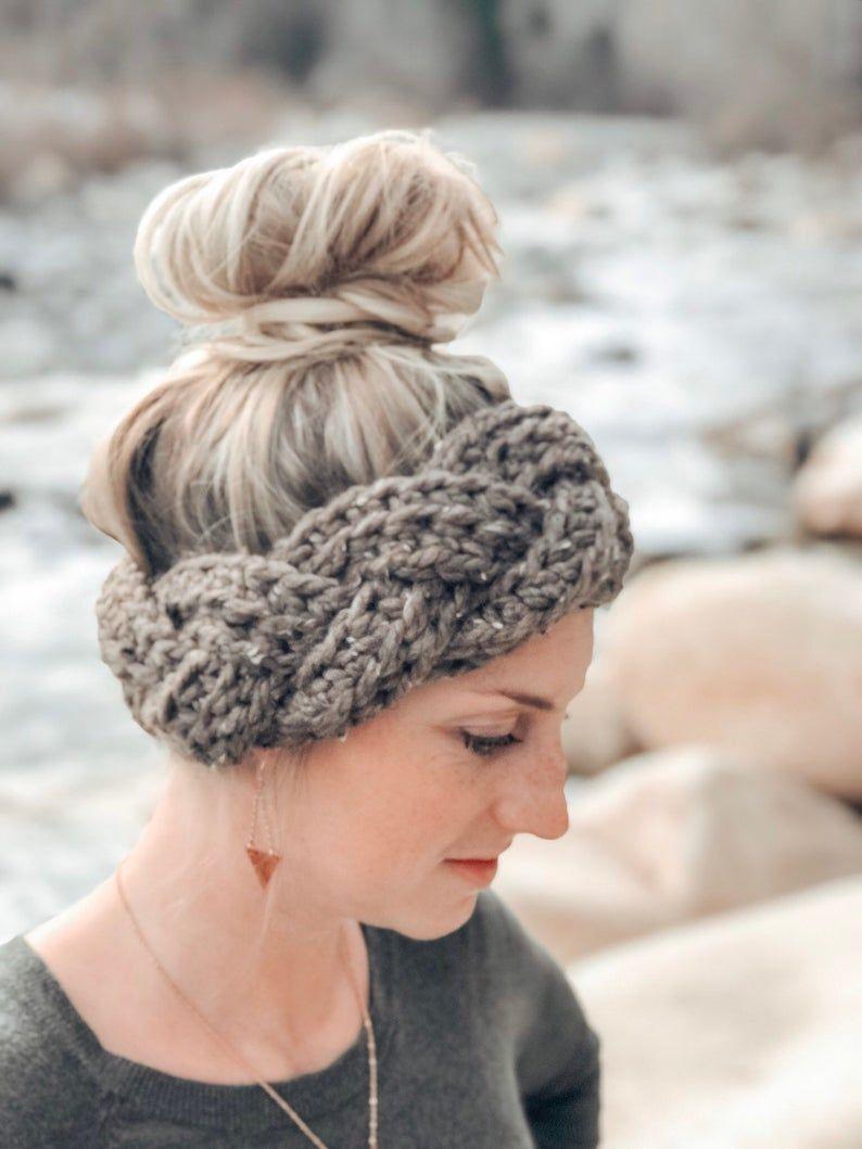 Chunky twisted Earwarmer Crochet headband