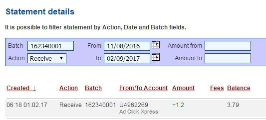 Make as much money as you want — it's so easy! No sponsoring or recruiting required in order to get paid. Making my daily earnings is fun, and makes it a very profitable! I am getting paid daily at ACX (AdClickXpress) and here is proof of my latest withdrawal. This is not a scam and I love making money online with Ad Click Xpress