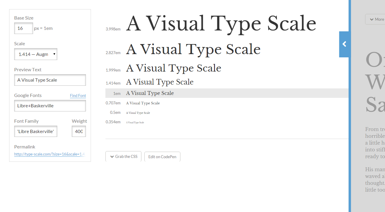 Preview And Choose The Right Type Scale For Your Project Experiment With Font Size Scale And Different Webfonts Typography Tools Typography Web Font