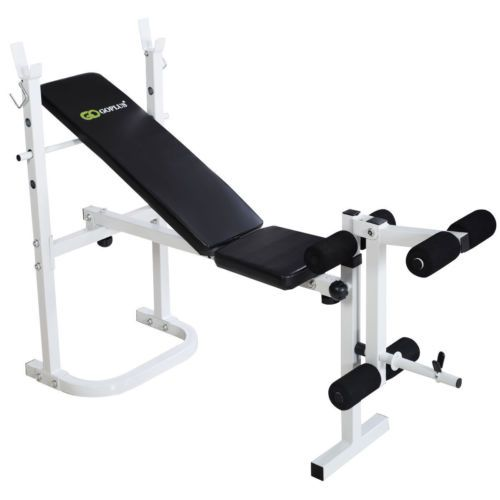 Complete Home Gym Bench Incline Leg Press Kit Solid Steel Frame Weight Workout Weight Benches Adjustable Weight Bench Bench Workout