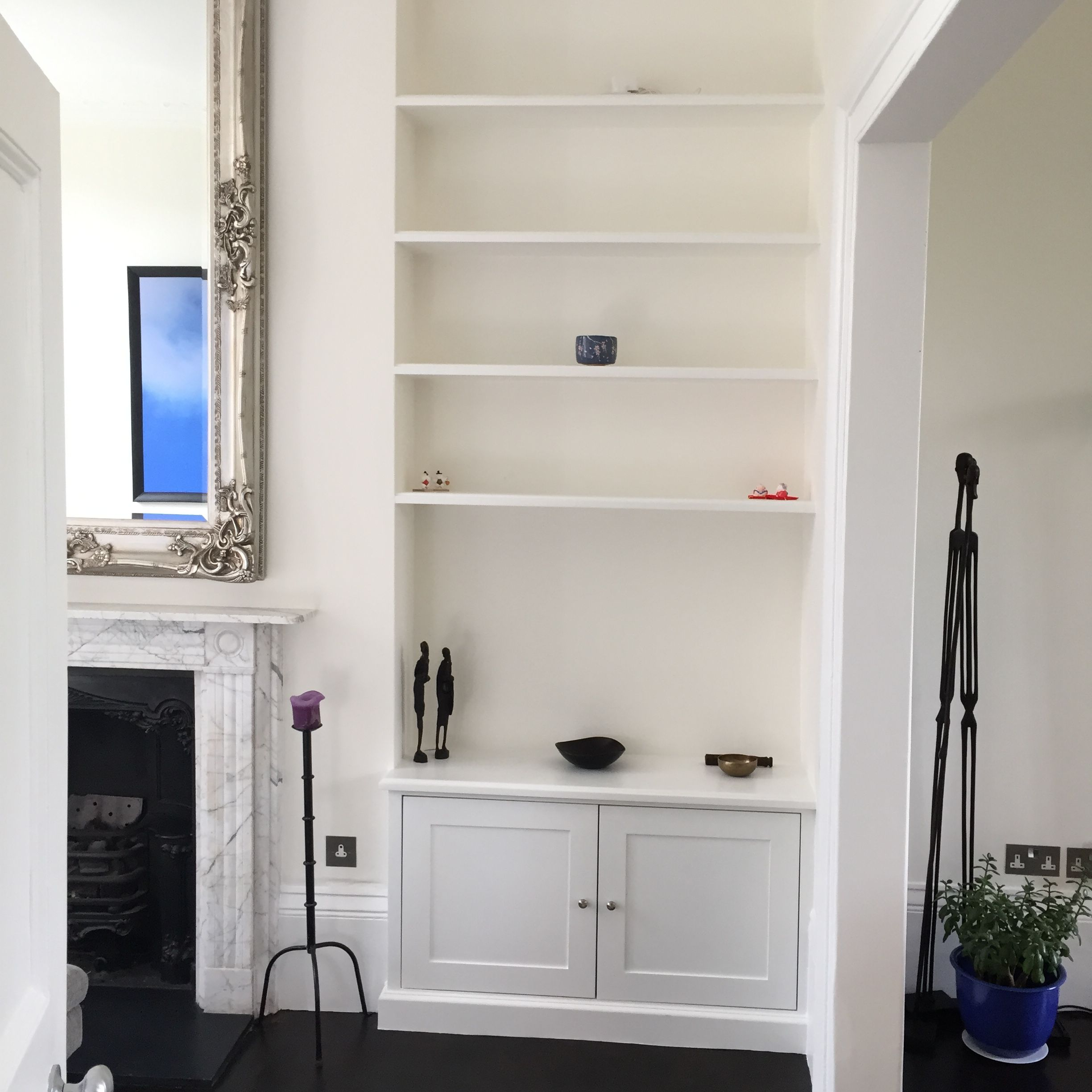 Apm New Cupboards And Shelving Either Side Of The Chimney Breast  # Muebles Why Not New