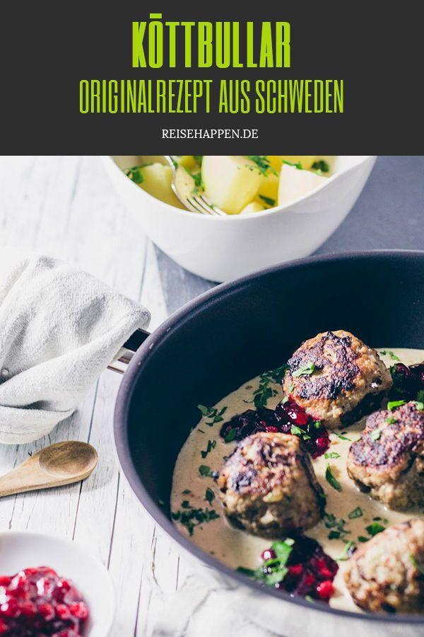 Köttbullar – Rezept für schwedische Fleischbällchen mit Sauce
