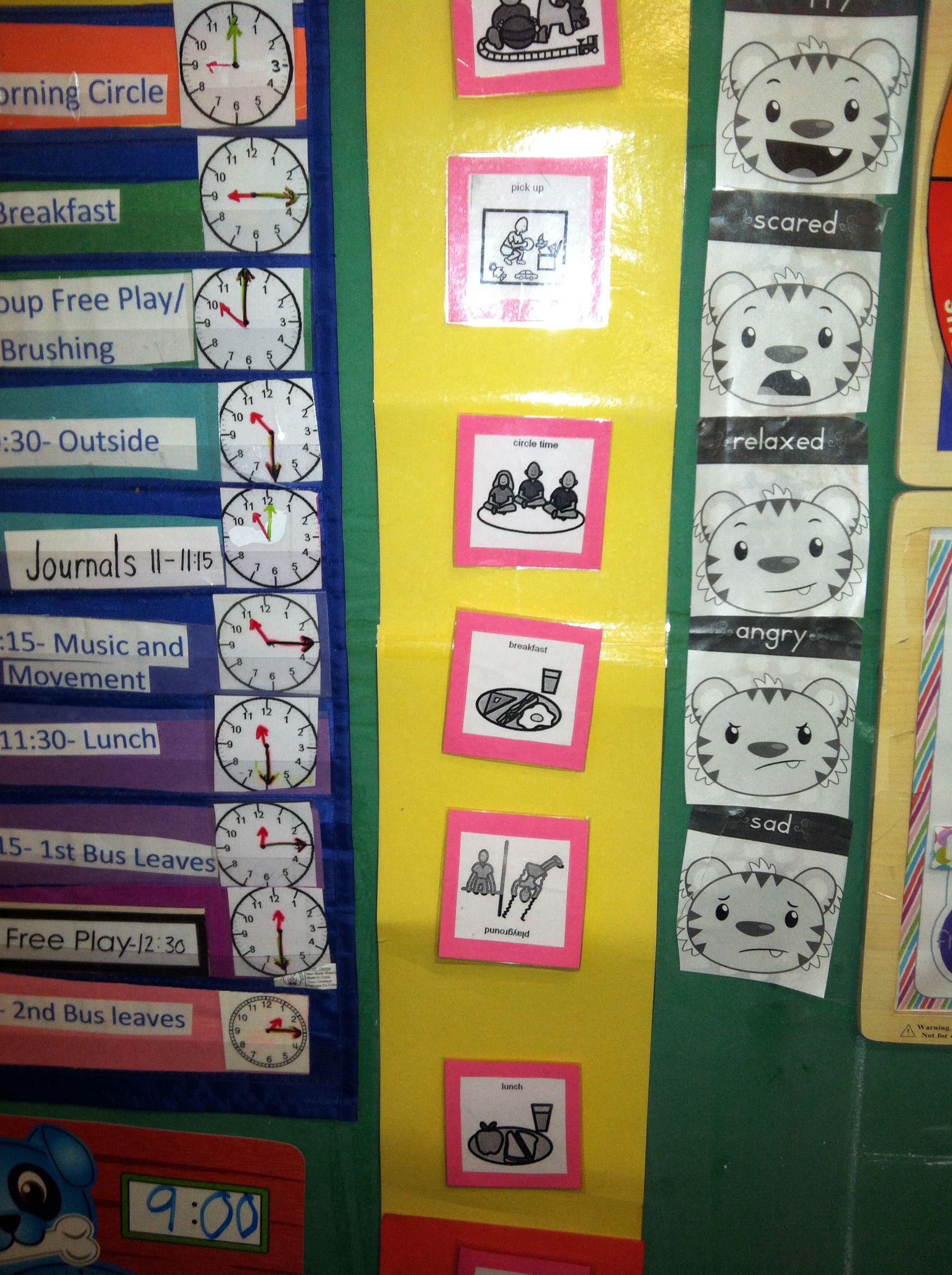 Prek Head Start Feelings Chart And Social Stories Schedule