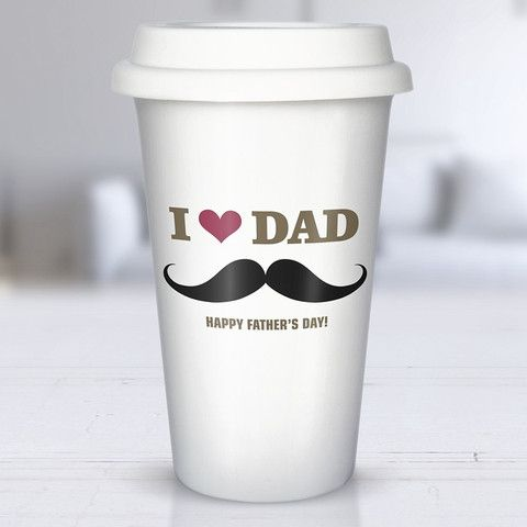 moustache dad personalised ceramic