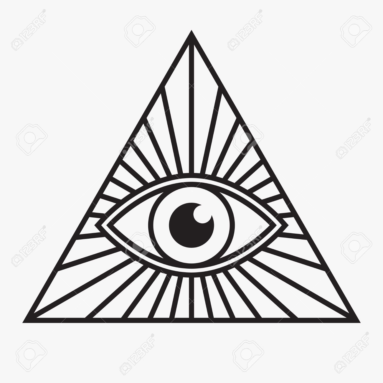 Stock Vector Eye symbol, All seeing eye tattoo, All
