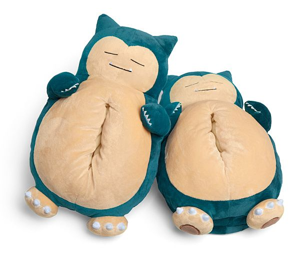 Pokemon Snorlax Slippers That Make Snoring Noises While You Walk Pokemon Snorlax Pokemon Merchandise Snorlax