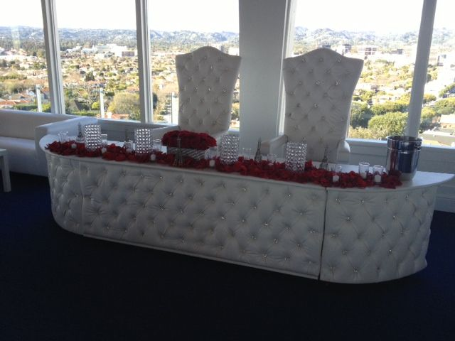 Leather Head Table Rental Los Angeles King And Queen