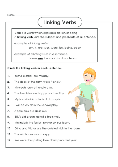 Practice identifying linking verbs today freeenglishworksheets – Verb Worksheets 5th Grade