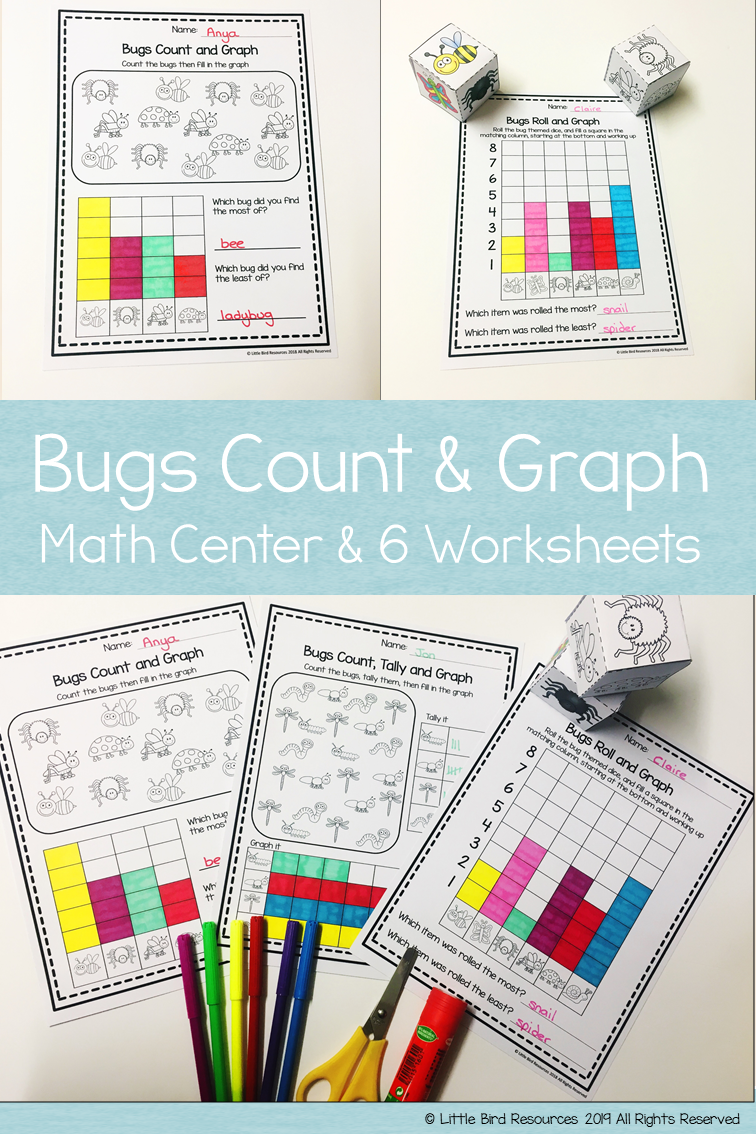 Bug Themed Count Graph Graphing Activities Graphing First Grade Bar Graphs [ 1134 x 756 Pixel ]