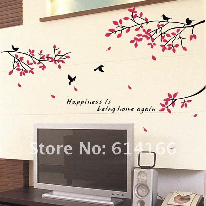 Hot vente arbre d 39 oiseau amovible vinly sticker mural for Chambre hot