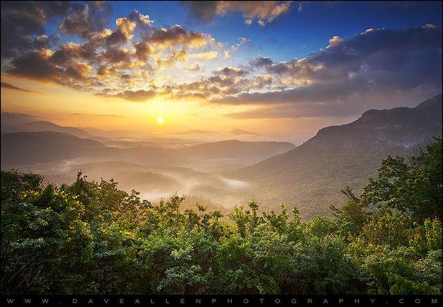 Highlands North Carolina Whitesides Mountain Sunrise Landscape Nc Highlands Nc Fine Art Landscape Photography Blue Ridge Mountains
