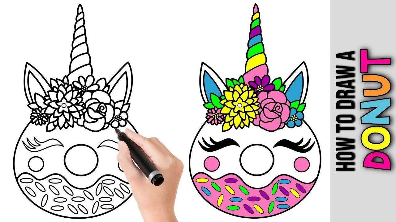 How To Draw Kawaii Unicorn Donut Cute Easy Drawings Tutorial