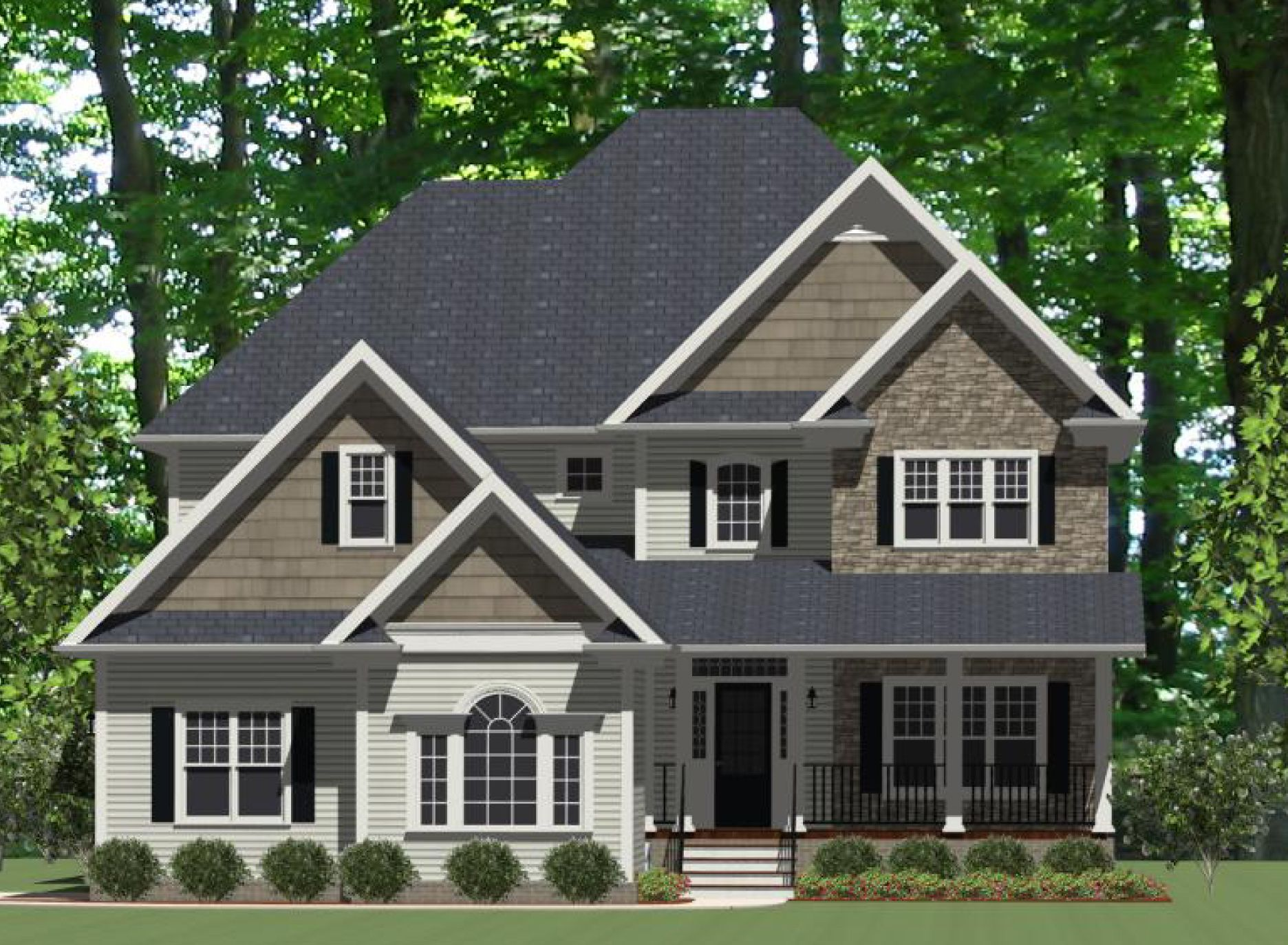 Marvelous Curb Appeal - 46223LA   Traditional, Narrow Lot, 1st Floor Master Suite, Bonus Room, Butler Walk-in Pantry, CAD Available, Den-Office-Library-Study, PDF, Corner Lot   Architectural Designs