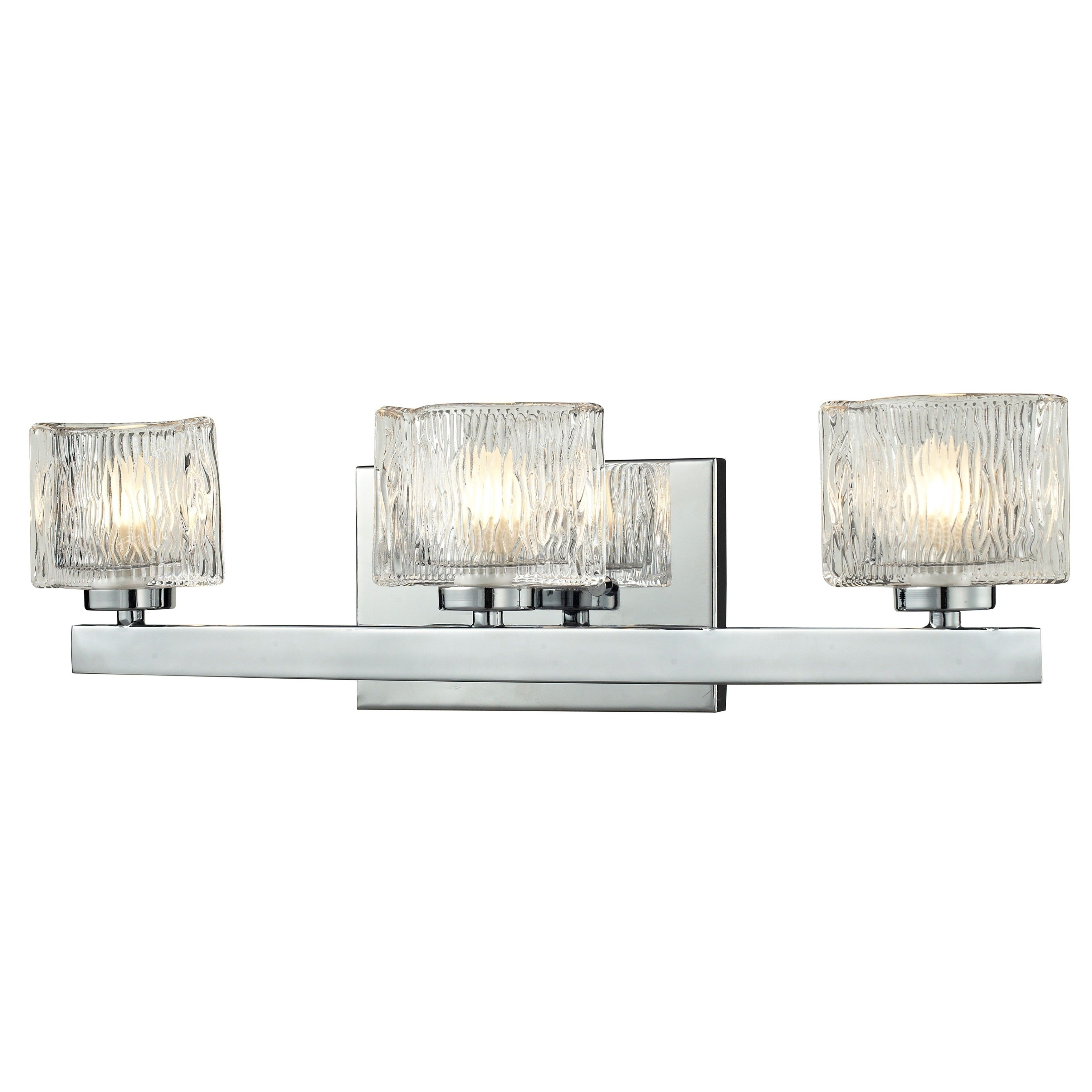 Z-Lite 3 Light Vanity Silver Finish (Silver Finish) (Steel)