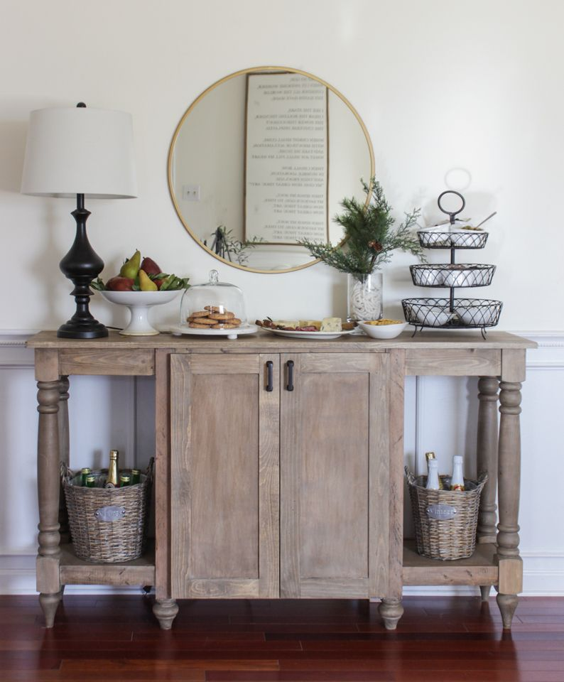 Modern Farmhouse Buffet Free Plans