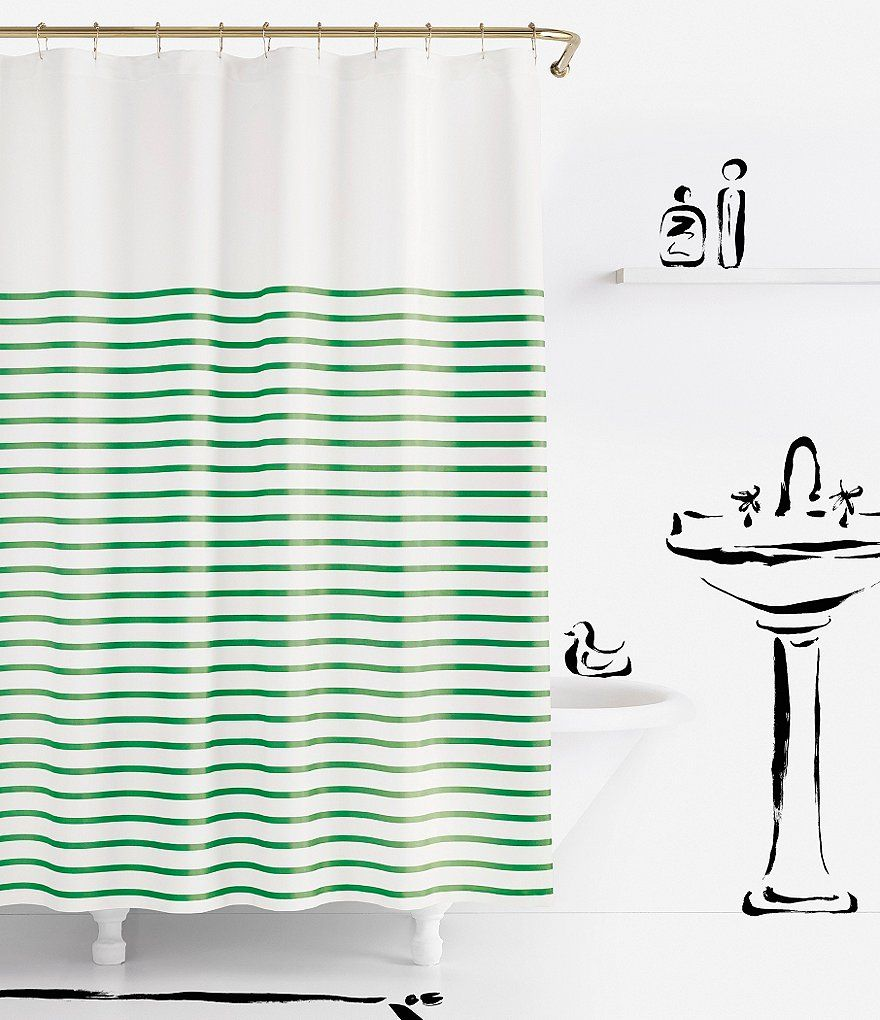 Kate Spade New York Harbour Stripe Shower Curtain With Images