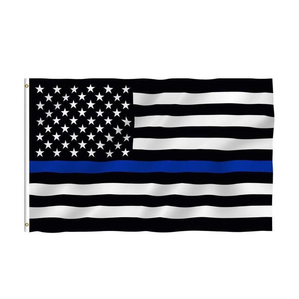 Back The Blue Usa Police Flag Thin Blue Line Flag Thin Blue