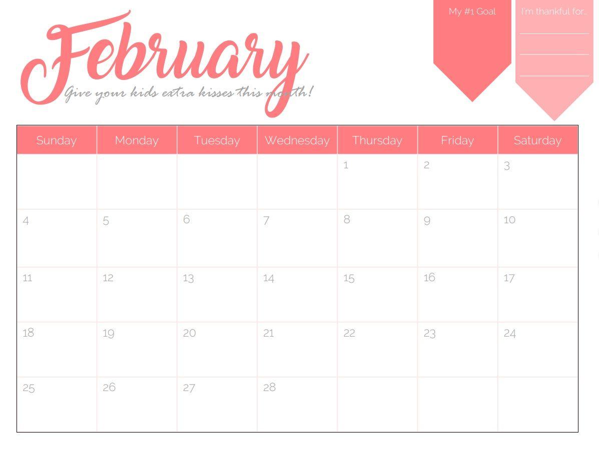 Calendar Wallpaper Creator : February goal planner calendar maxcalendars