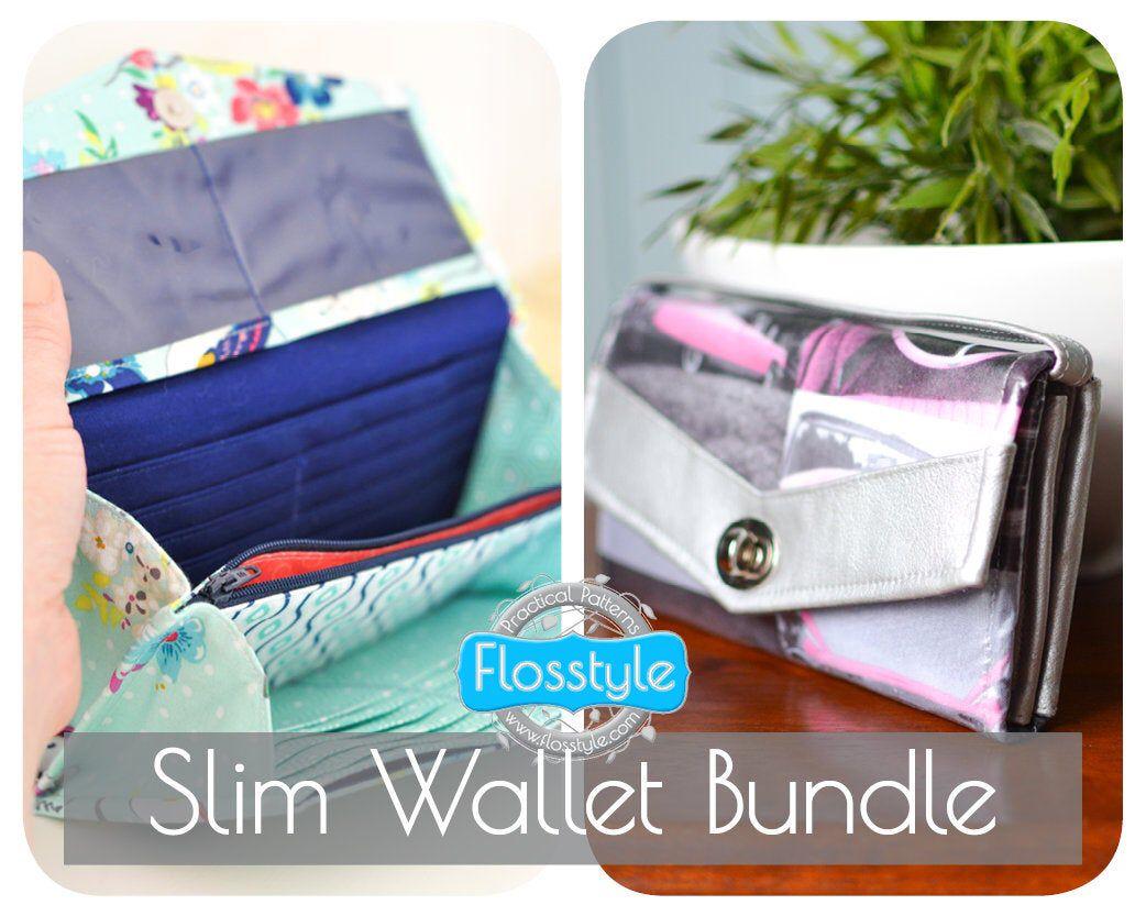 Ez wrap wallet pdf sewing pattern beginner intermediate