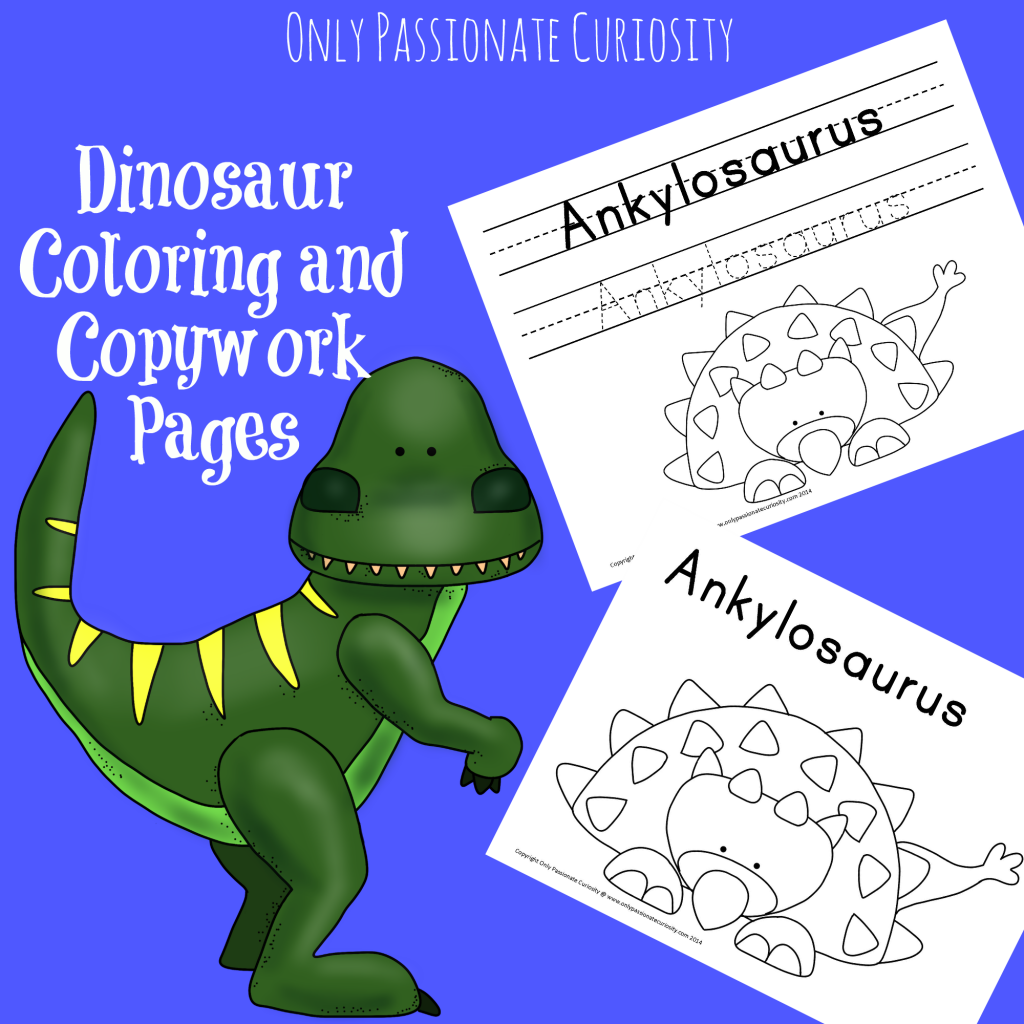 Dinosaur Coloring and Copywork | Unit studies, Homeschool and ...