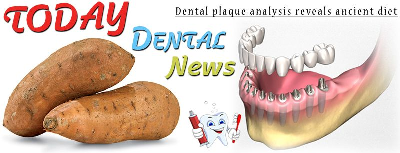 Dental plaque analysis reveals ancient diet Dental calculus from ancient teeth is resolving the question of what plant foods Easter Islanders ate before European contact. Starch grains extracted from the teeth revealed modern sweet potato Read More... http://www.thehindu.com/todays-paper/tp-features/tp-sci-tech-and-agri/dental-plaque-analysis-reveals-ancient-diet/article6702695.ece https://www.youtube.com/watch?v=0xEObV90x7I #kanpur