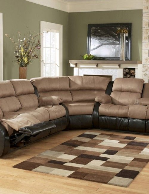 Reclining Sectional Sofa With Massage